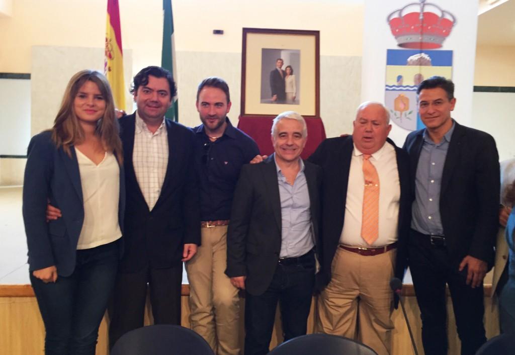 Juan Jiménez, junto a Luis Salvador y José Antonio Funes