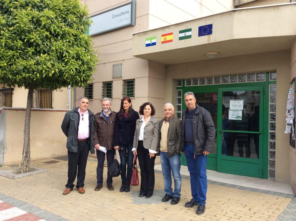 José Antonio Funes y José Manuel Casals en la visita al Consultorio de Cúllar Vega