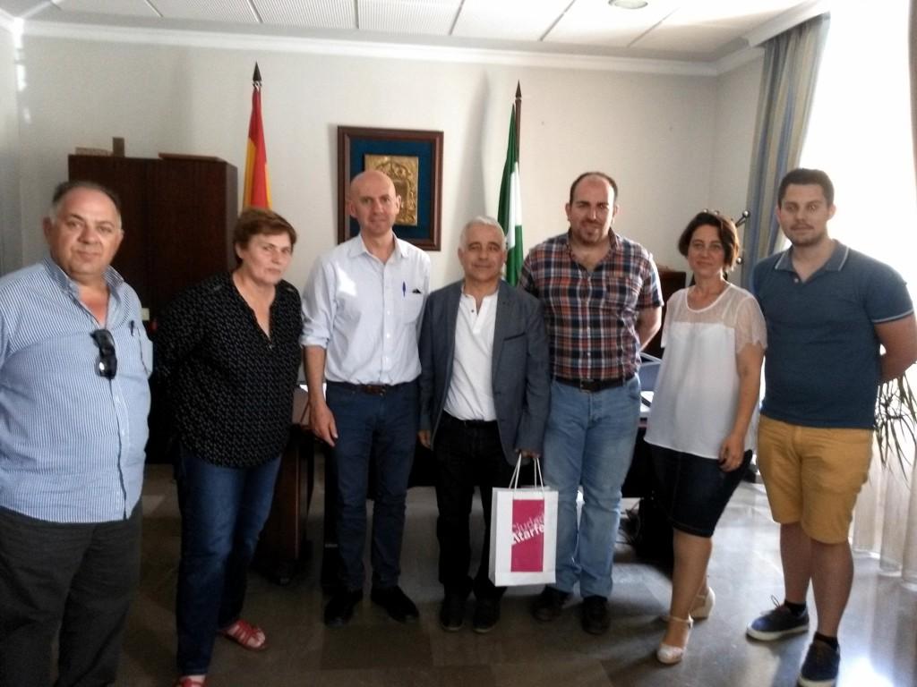 Con el alcalde de Atarfe