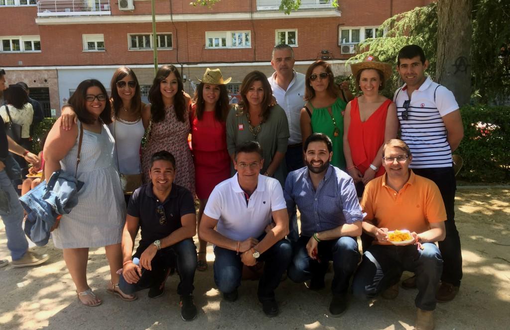Algunos representantes de Ciudadanos Granada en el acto de campaña en Madrid