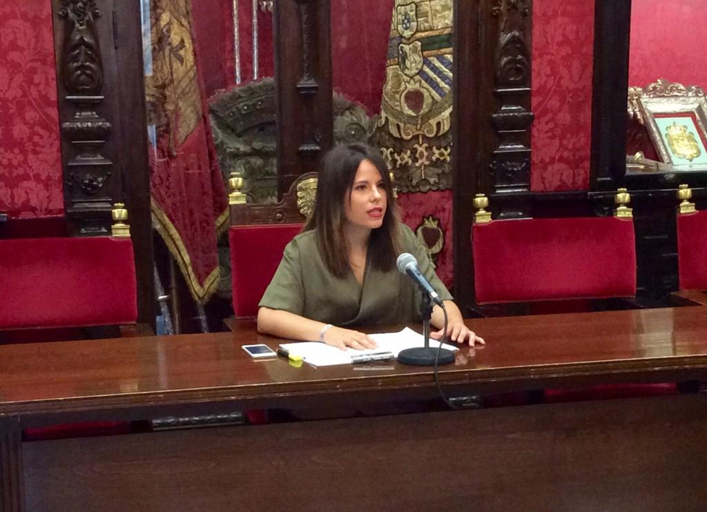 Lorena Rodríguez, en rueda de prensa