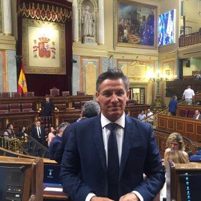 """Luis Salvador reivindica en el Congreso la línea 400 kv como una """"infraestructura vital"""" para el desarrollo de las comarcas de Guadix, Baza y Huéscar"""