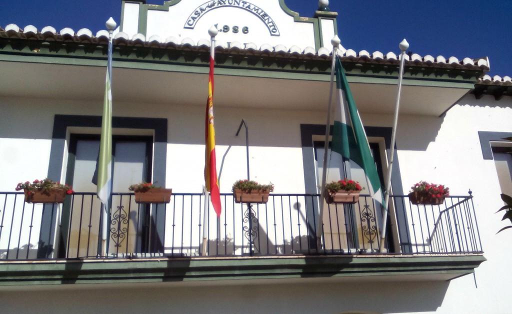 Banderas en el Ayuntamiento