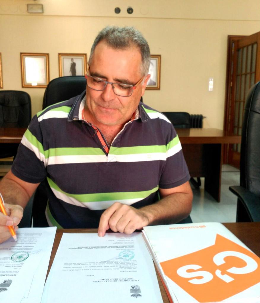 El portavoz de Ciudadanos en el Ayuntamiento de Cúllar Vega José Manuel Casals