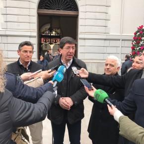 """Juan Marín: """"Confiamos en que este año los granadinos vean llegar el AVE y dos hospitales completos a su ciudad"""""""