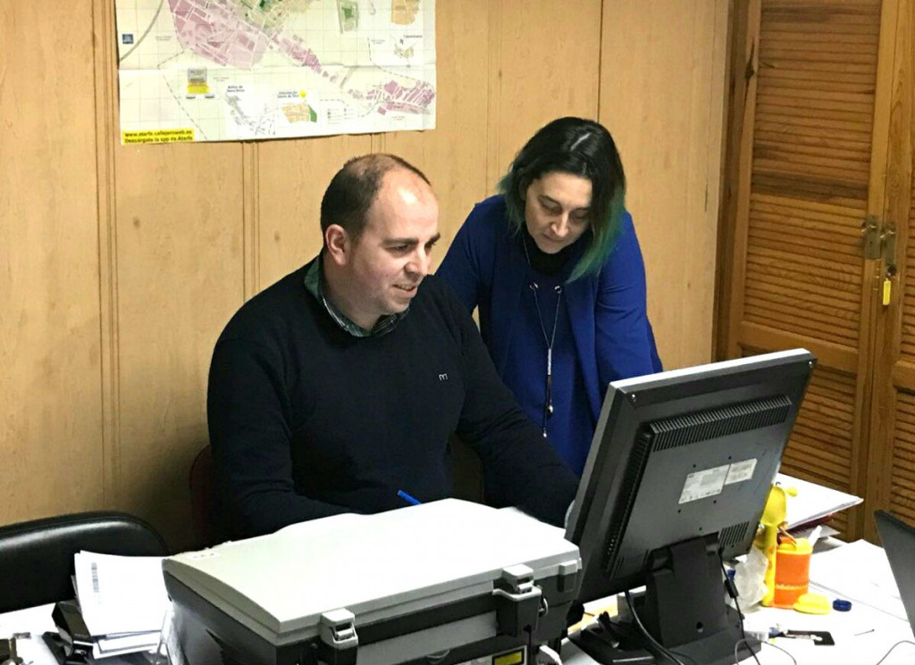 Los concejales del grupo municipal de Ciudadanos en el Ayuntamiento de Atarfe