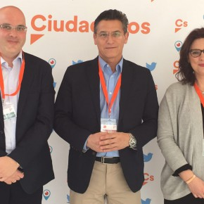 Luis Salvador, María del Mar Sánchez y Raúl Fernández, los tres granadinos que forman parte del Consejo General de Ciudadanos