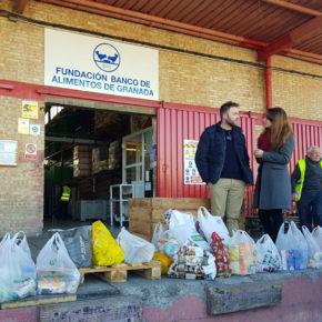 Jóvenes Cs entregan al Banco de Alimentos más de 200 kilos de productos recogidos en su campaña solidaria
