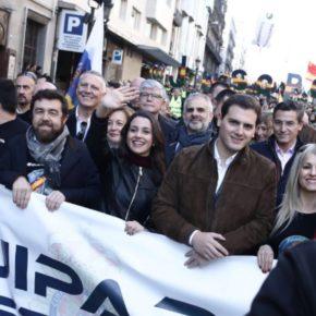 Luis Salvador participa en la multitudinaria manifestación de Barcelona por la equiparación salarial de Policía y Guardia Civil