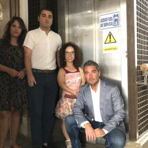 """Ciudadanos demanda el arreglo del ascensor del Ayuntamiento y critica que el equipo de gobierno """"normalice una situación que debería ser excepcional"""""""