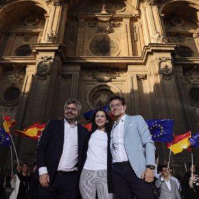 """Inés Arrimadas: """"Granada tiene un proyecto de futuro pendiente que nadie se ha atrevido a poner en marcha y que va a llegar de la mano de Ciudadanos"""""""