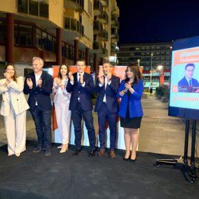 """Luis Salvador: """"Todo el que deposite su voto en naranja estas elecciones votará por futuro y por progreso; estará diciendo sí a Granada"""""""